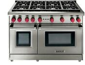Wolf 48 Pro Style 8 Dual Stacked Liquid Propane Ss Convection Gas Range Gr488lp