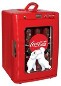 Portable Coca Cola 28 Cans Ac Dc Thermoelectric Mini Cooler Fridge Led Display