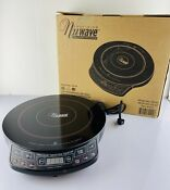 Nuwave Precision Induction Cookware 1300 Watts Model 30101 Black Cook Top Mint