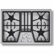 Nib Thermador Masterpiece 30 Electronic 4 Star Burner Ss Gas Cooktop Sgs304fs