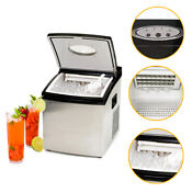 Countertop Stainless Steel Crystal Clear Commercial Quality Solid Ice Maker