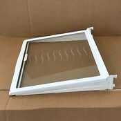 Whirlpool Kenmore Maytag 2203236 Refrigerator Glass Shelf And 2195975 Frame