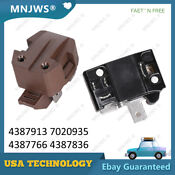 Refrigerator Compressor Relay Overload Kit For Whirlpool Kenmore Roper 4387913