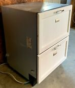 24 Wide White Fisher Paykel Double Drawer Dishwasher Model Dd603i Bonita Spr