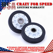 2x 37001042 Dryer Drum Roller Parts For Speed Queen Kenmore Admiral Amana Maytag