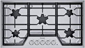 Thermador Sgs365ts Masterpiece Series 36 Built In Gas Cooktop Stainless Steel