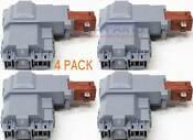 4 Pack 131763202 Washer Door Lock Switch Assembly For Frigidaire 131763256