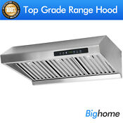 Etl Premium Stainless Steel Two Fan Motor Under Cabinet 30 Range Hood Cook Fan