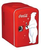 Koolatron Kwc 4 Coca Cola Personal 6 Can Mini Fridge Dorm Small Refrigerator