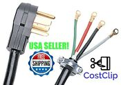 4 Wire Dryer Cord 6t Electrical Replacement Power Cords Prong 30a 10 Awg Plug