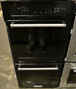 Kitchenaid Kodc304ebl 24 Built In Black Electric Top Convect Double Wall Oven