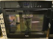 Whirlpool Wos51ec0ab Built In Black Electric Extra Large Window Single Wall Oven