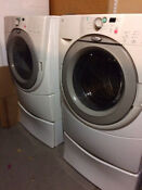 Used Whirlpool Duet Washer And Dryer Front Loading Pedestals Local Pickup Only