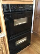 Dacor Double Wall Oven Electric Convection 30 Black Glass 30 Cpo230b