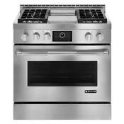 Jenn Air 36 Stainless Steel Free Standing Griddle Convetion Gas Range Jgrp536wp