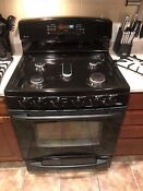 Black Ge Profile 5 Burner Gas Stove