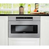 Sharp 1 2 Cu Ft 30 In Built In Microwave Drawer Stainless Smd3070asy New