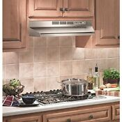 Under Cabinet Range Hood Ventless W Fan Stainless Steel 30 Inch Over Stove Light
