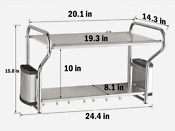 Double Bracket Stainless Steel Microwave Oven Wall Mount Shelf With Removable