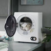 Laundry Dryer Electric Portable Magic Chef 1 5 Cu Ft White Anti Wrinkle Mode