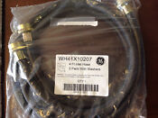 Ge Washing Machine Inlet Fill Hoses Set Of 2 With Washers 4 Ft