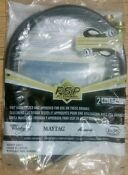 Fsp Whirlpool 8212546rp 4 Foot Black Rubber Washer Hose 2 Pack Sealed