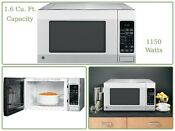 Ge Countertop Microwave Oven Stainless Sensor Cooking 1150 Watts 1 6 Cu Ft