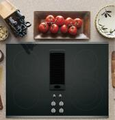 Ge Profile 30 Downdraft Electric Cooktop With Stainless Steel Trim Pp9830sjss