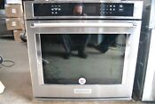 Kitchenaid 30 Stainless Steel Single Electric Convection Wall Oven Kose500ess