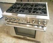 New Thermador 36 Inch Stainless Stove 30 Day Warranty