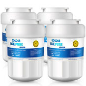 4 Pack Fits Ge Mwf Refrigerator Water Filter Replacement For Mwfp Hwf