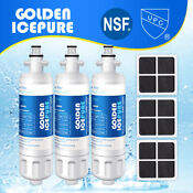 Fit For Lg Lt700p Lt120f Refrigerator Water Filter Air Filter 3 Pack