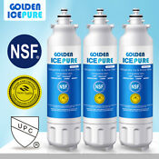 Fit For Lg Lt800p Adq73613401 Rwf 1160 R 9490 Lsxs26366s Water Filter 3 Pack
