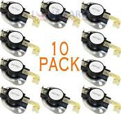 10 Pack 3977767 3399693 Hi Limit Thermostat Replaces Whirlpool Kenmore Dryer