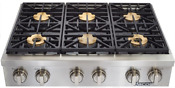 Dacor Discovery 36 Gas Rangetop 6 Burners W Smartflame Technology Dyrtp366sng
