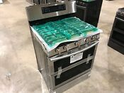 Samsung Double Oven Gas Range With Self Cleaning Convection Oven Nx58k7850ss