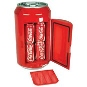 Coca Cola Red 8 Can Mini Fridge Portable 12v Cooler For Car Boat Or Camper