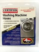 Certified Appliance 2 Pack Rubber Washing Machine Hoses 4 Ft Hot Or Cold Water