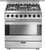 Smeg Professional Style 30 Inch 5 Burner Natural Gas Range Stainless Steel