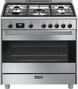 36 Inch Freestanding Dual Fuel Range With 5 Burners Sealed Cooktop