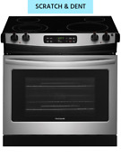 New Scratch Dent Frigidaire 30 Stainless Drop In Electric Smooth Top Range