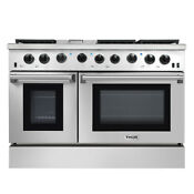 Thor 48inch Gas Range 2 Oven 6 Cooktop Griddle Stainless Steel Lrg4801u