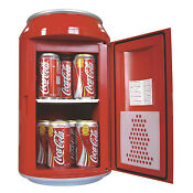 Coca Cola Refrigerator Small Coke Fridge Mini Compact Machine Countertop Cooler