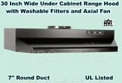Black Over The Stove Range Hood Ducted 30 Exhaust Fan Kitchen Under Cabinet New