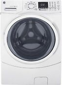 Ge Gfw450sskww High Efficiency White Front Load Washing Machine With Steam