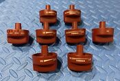 Wolf Metal Knob Set Red 8 Pc For 36 Gas Range Tops See Pics