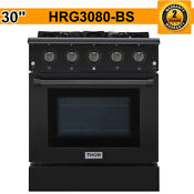 Thor 30 Gas Range 4 2 Cu Ft Professional Free Standing Black Wide Hrg3080 Bs