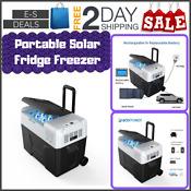 Eses Portable Solar Fridge Freezer Car Outdoor Traveling Outing Camping 42 Quart