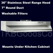 Over The Stove Range Hood Ducted Stainless Steel 36 Under Kitchen Cabinet Fan