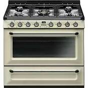 Smeg Victoria 36 Inch Freestanding Gas Range With True European Convection